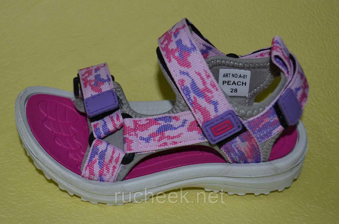 Спортивные сандалии для девочки  р-ры 31, 33, ТМ EEBB А-01