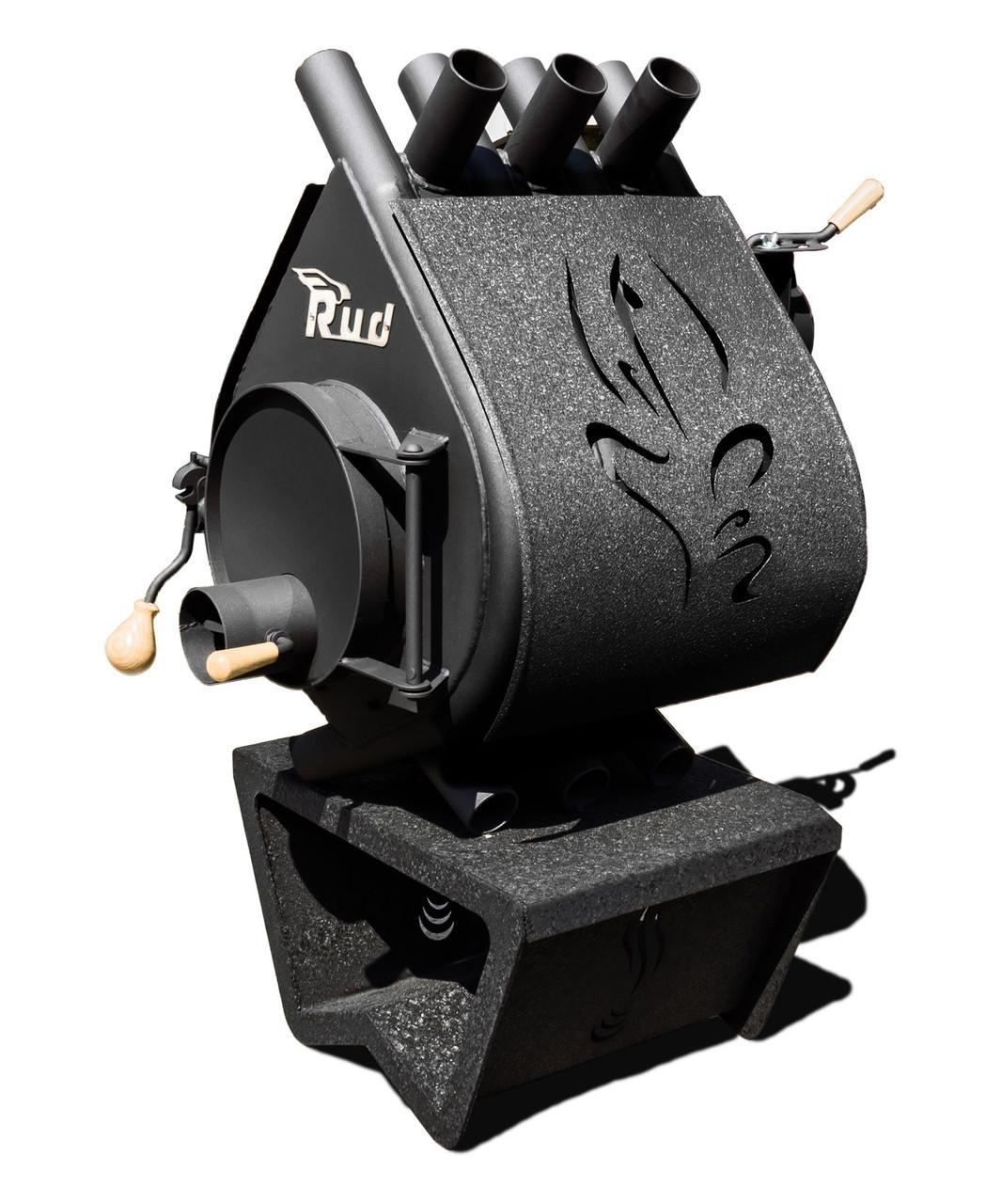 Опалювальна конвекційна піч Rud Pyrotron Кантрі 00 з декоративною обшивкою (чорна, коричнева, бордова)