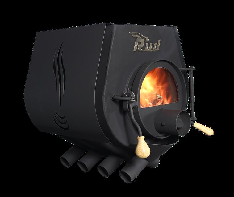 Отопительная конвекционная печь Rud Pyrotron Кантри 00 с варочной поверхностью со стеклом в дверце печи