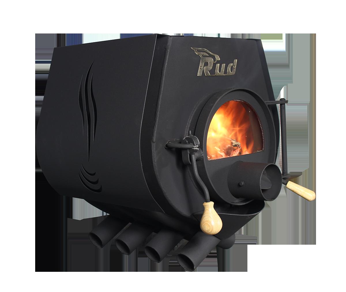Отопительная конвекционная печь Rud Pyrotron Кантри 01 с варочной поверхностью со стеклом в дверце печи