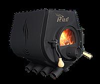 Отопительная конвекционная печь Rud Pyrotron Кантри 02 с варочной поверхностью со стекло в дверце печи