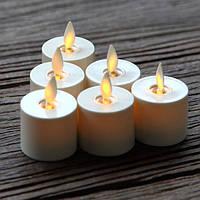 Свечи Светодиодные Чайные с Имитацией пламени