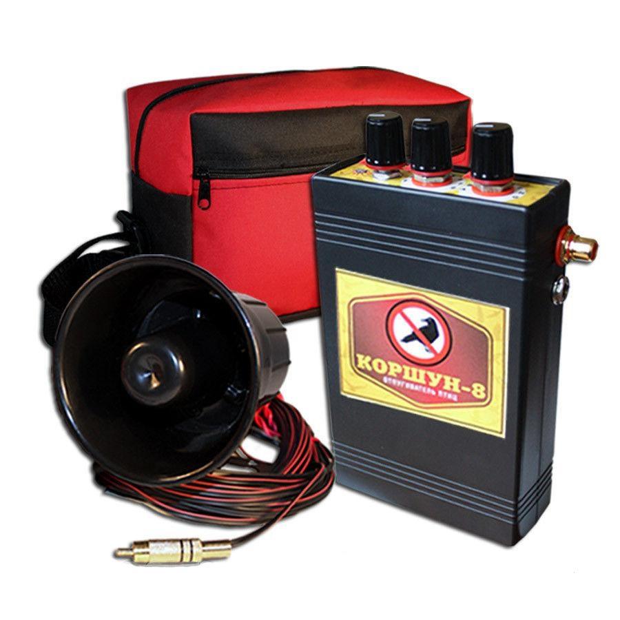 Відлякувач птахів акустичний Шуліка-8 з двома динаміками (площа захисту 10 Га)
