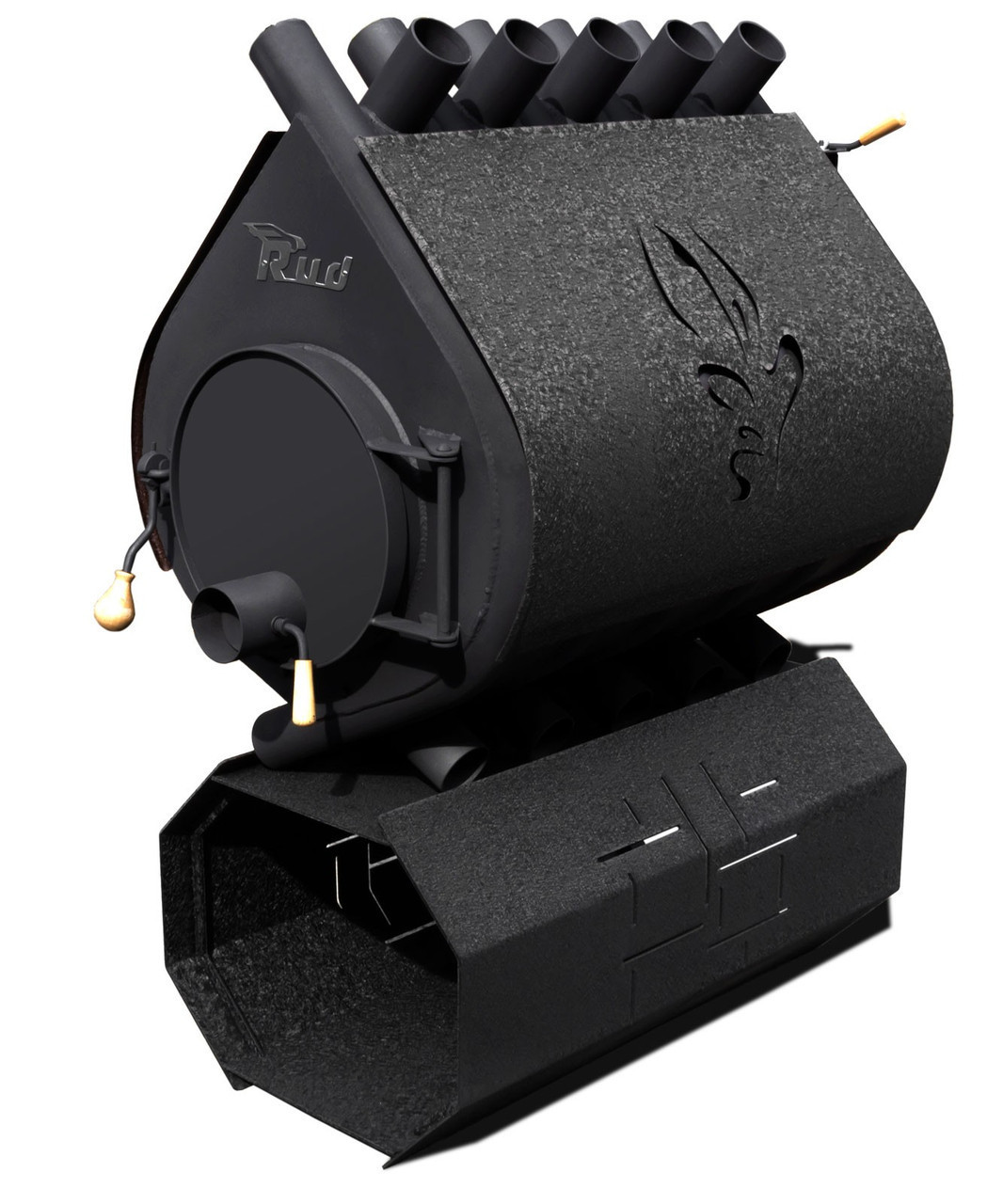 Отопительная конвекционная печь Rud Pyrotron Кантри 03 обшивка декоративная (бордовая, черная, коричневая)