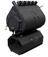 Опалювальна конвекційна піч Rud Pyrotron Кантрі 03 декоративна обшивка (бордова, чорна, коричнева), фото 1