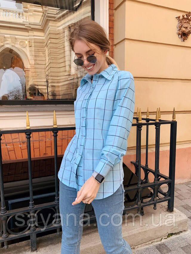 c161202d97e9424 Купить Женскую рубашку с принтом клетку в расцветках. ОК-6-0419 ...