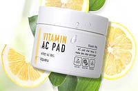 Пилинг-диски с AHA и BHA кислотами и витаминами A'PIEU Vitamin AC Pad 35шт.