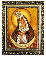 Почаевская Икона Божией Матери из янтаря 20*30 см