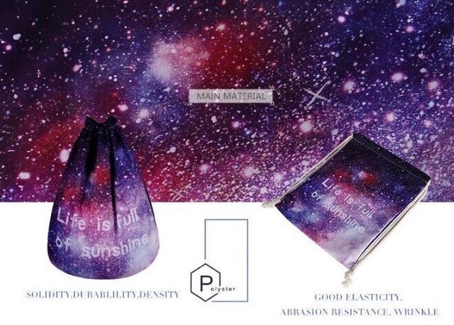 Сумка галактика фото 3 с рюкзаком