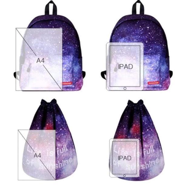 Сумка галактика фото 4 с рюкзаком