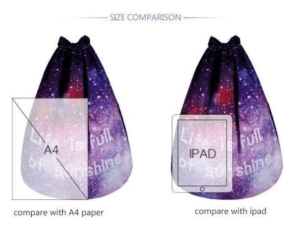 Сумка галактика фото  с рюкзаком сиреневый