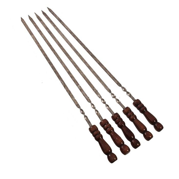 Шампур с деревянной ручкой 74 см