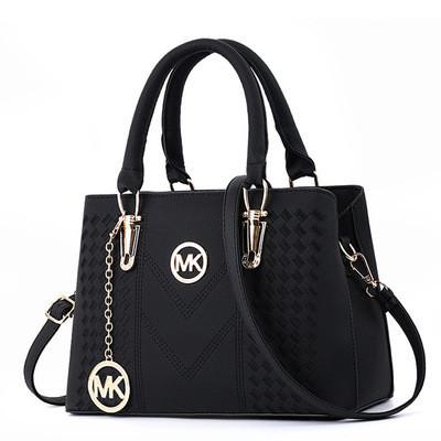 Большая женская сумка MK с брелком черная