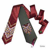 """Атласный галстук с вышивкой """"Уличан"""""""