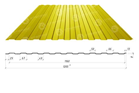 Профнастил для стен ПС/ПК 6 полиэстер глянец