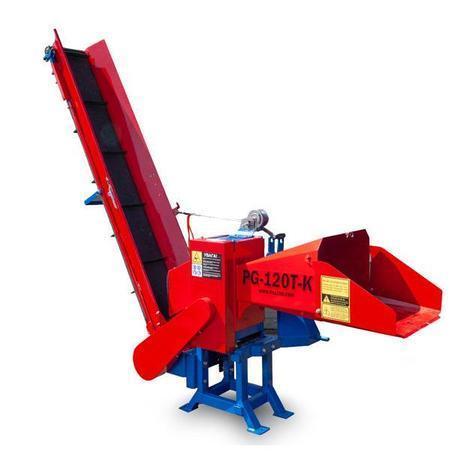 Измельчитель веток с конвейерной лентой 120 мм тракторный под ВОМ от 25 л.с