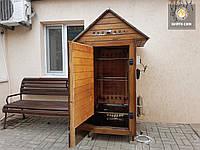 Коптильня 550л -холодного и горячего копчения, +просушка. Ольха внутри, крыша домиком, фото 1