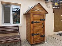 Электростатическая Коптильня 550л -холодного и горячего копчения, +просушка. Нержавейка внутри, крыша домиком, фото 1