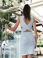 Платье с открытой спиной из вискозы