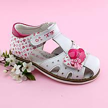 Босоножки на девочку нарядные Белые с розовым Bi&Ki размер 27, фото 3