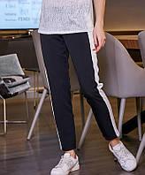 Женские черные брюки с лампасами (3436-3437 svt)