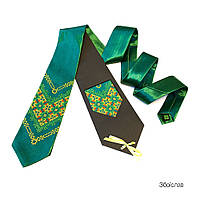 """Атласный галстук с вышивкой """"Збоислав"""""""