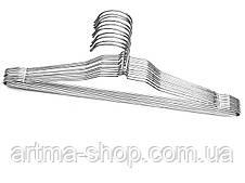 Тремпеля Хромированные 3шт Вешла Металические, Плечики Хром (длина 40 см)
