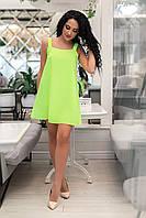 Летнее мини платье. Салатовое, 4 цвета. Р-ры: 42,44,46,48.