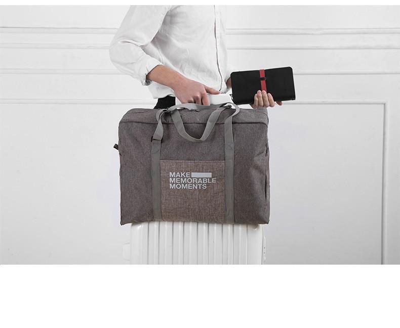 Сумка складная для ручной клади Travel Linen серо коричневая 02032/04