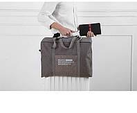 Сумка складная для ручной клади Travel Linen серо коричневая 02032/04, фото 1