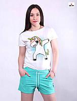 Женские молодежные шорты на лето с поясом