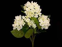 Цветы искусственные для декора Гортензия ветка 35см