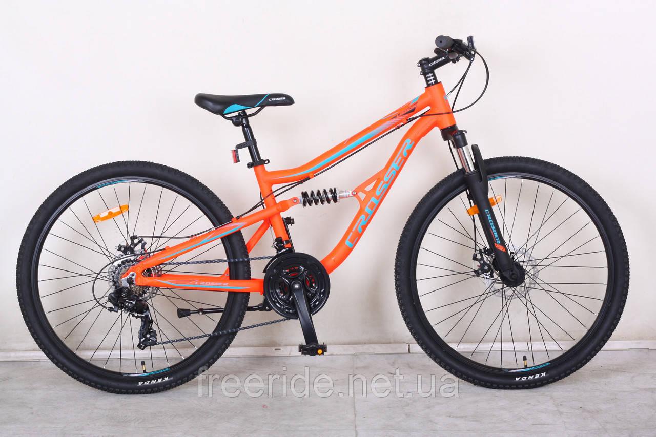 Двухподвесный Велосипед Crosser Legion 26 (14 рама)