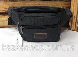 Бананка, сумка на пояс, барыжка из плотного непромокаемого материала, брезента, 4 отдела, фото 3