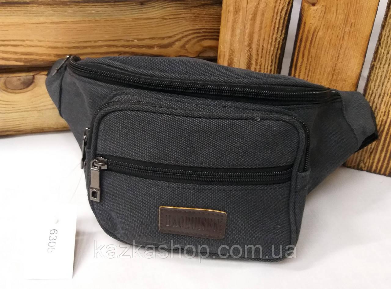 Бананка, сумка на пояс, барыжка из плотного непромокаемого материала, брезента, 4 отдела