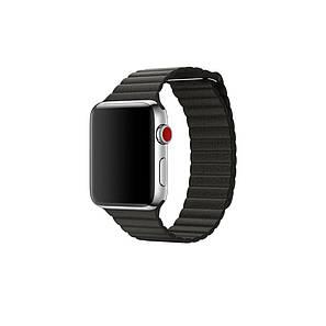 Ремешок Apple Watch 38/40mm Leather Loop black, фото 2