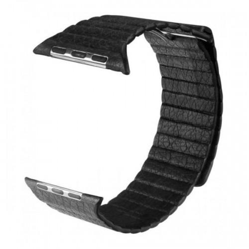Ремешок Apple Watch 38/40mm Leather Loop black
