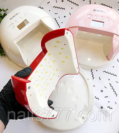 Лампа LED для манікюру SUN 7X 60Вт, Рожева, фото 2
