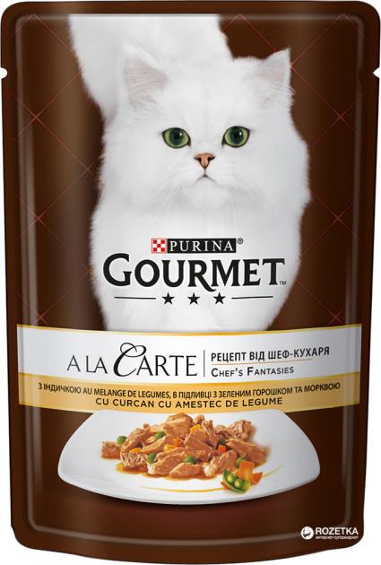 Влажный корм для кошек Purina Gourmet AlaCarte с индейкой 24 шт по 85 г