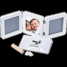 Набір для відбитків ручок і ніжок Baby Art Double Print Frame white&grey
