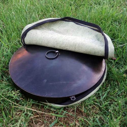 Комплект сковорода (S) из диска бороны с крышкой с чехлом 30см