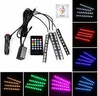 Светодиодная LED подсветка в салон автомобиля на пульте управления 9 диодов (8 цветов) мерцает в такт музыки!