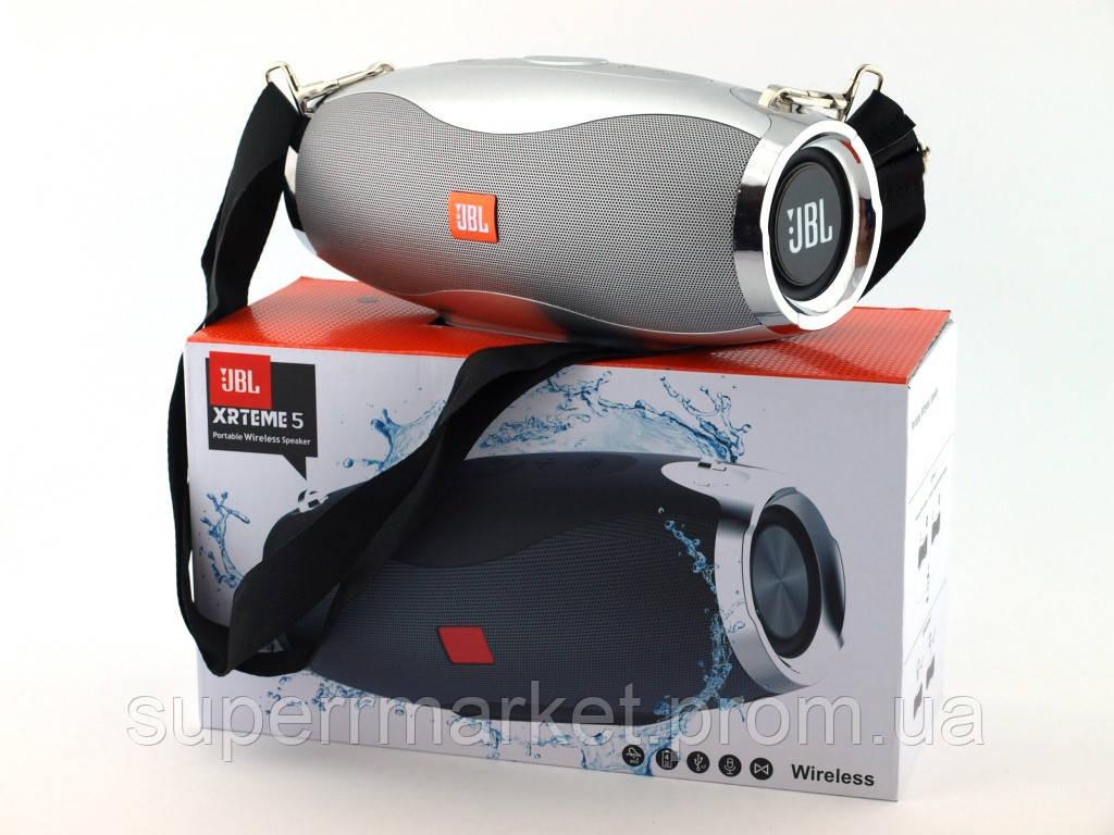 JBL Xtreme 5 XW-04 копия, портативная колонка 10W с Bluetooth FM и MP3, серебряная