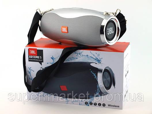 JBL Xtreme 5 XW-04 копия, портативная колонка 10W с Bluetooth FM и MP3, серебряная, фото 2