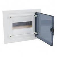 Щит распределительный на 8 модуля, прозрачная дверца (1х8), GOLF Hager (VF108TD)