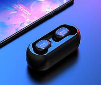 Беспроводные Bluetooth наушники QCY QS1 (T1C) Черные AirPods, фото 1