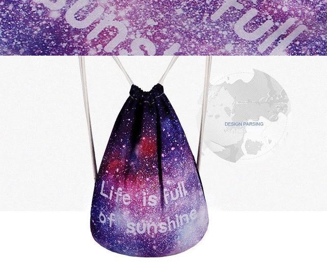 Сумка галактика фото 2 с рюкзаком