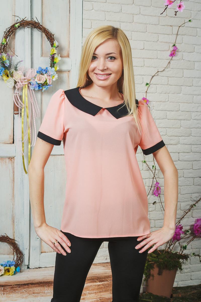Блуза женская шифон персик