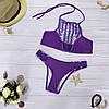 Женский купальник лилового цвета