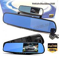 Зеркало видеорегистратор  Blackbox DVR с камерой заднего вида Full HD, фото 1